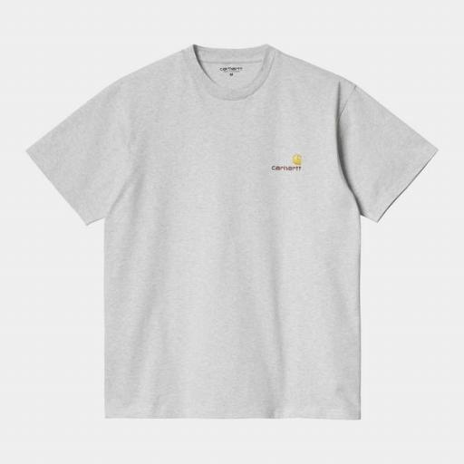 CARHARTT Camiseta S/S American Script Ash Heather