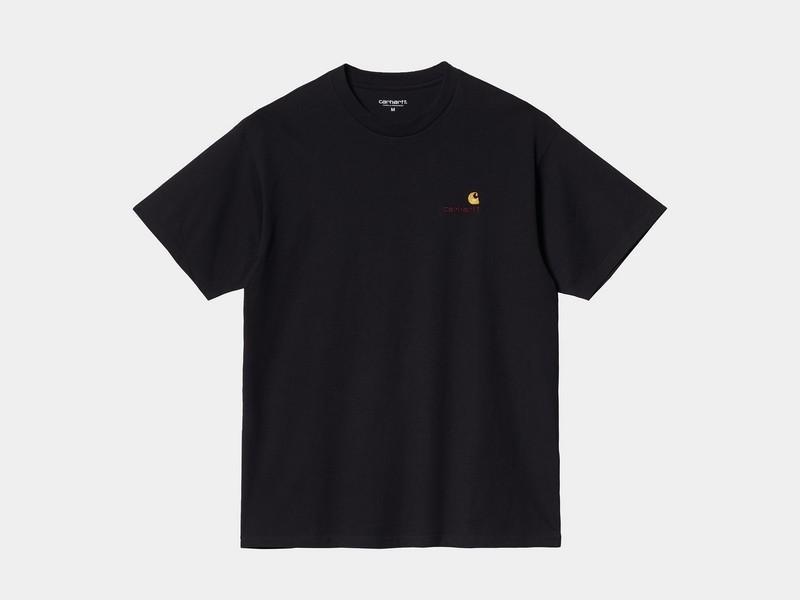 CARHARTT Camiseta S/S American Script Black