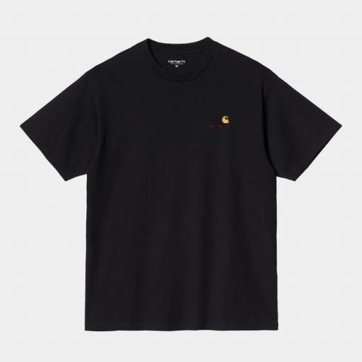 CARHARTT Camiseta S/S American Script Black [0]