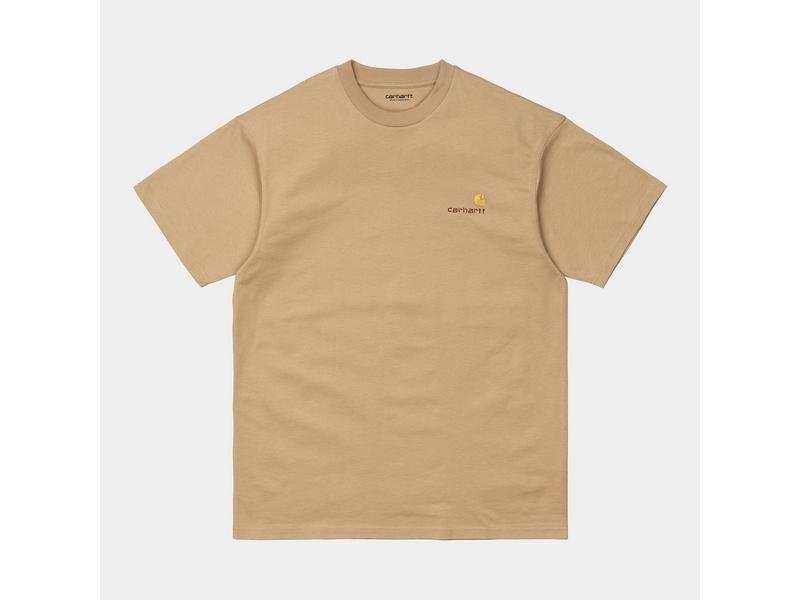 CARHARTT Camiseta S/S American Script Dusty Brown
