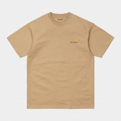 CARHARTT Camiseta S/S American Script Dusty Brown