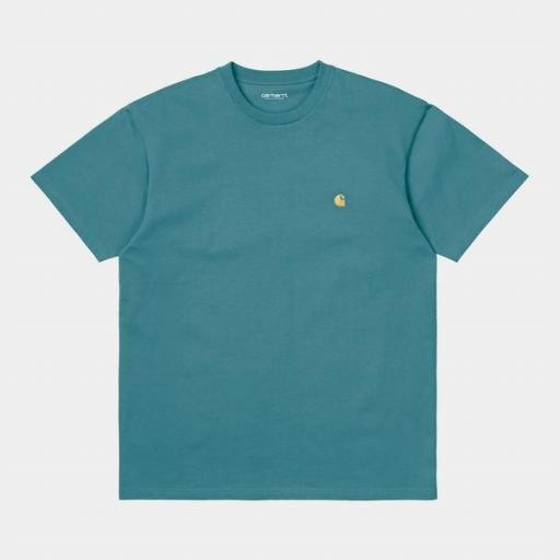 CARHARTT Camiseta S/S Chase Hydro Gold