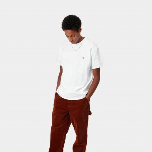 CARHARTT Camiseta S/S Chase White Gold
