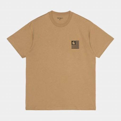 CARHARTT Camiseta S/S Fade State T-Shirt Dusty H Brown / Black [1]