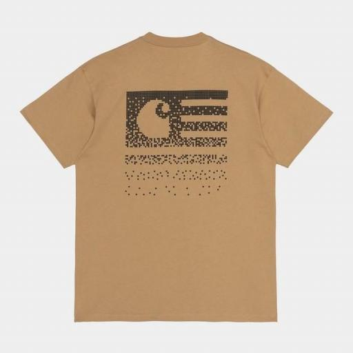CARHARTT Camiseta S/S Fade State T-Shirt Dusty H Brown / Black