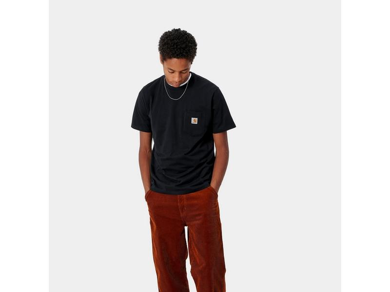 CARHARTT Camiseta S/S Pocket Black