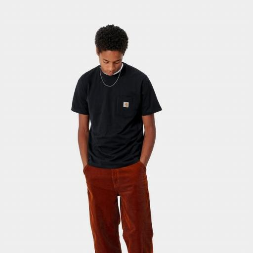 CARHARTT Camiseta S/S Pocket Black