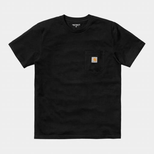 CARHARTT Camiseta S/S Pocket Black [3]