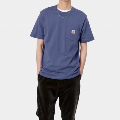 CARHARTT Camiseta S/S Pocket Cold Viola [1]