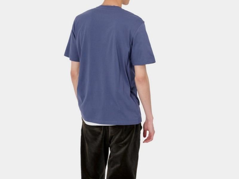 CARHARTT Camiseta S/S Pocket Cold Viola