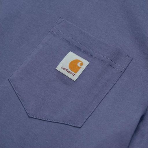CARHARTT Camiseta S/S Pocket Cold Viola [3]