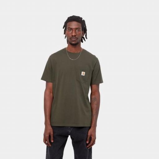 CARHARTT Camiseta S/S Pocket Cypress