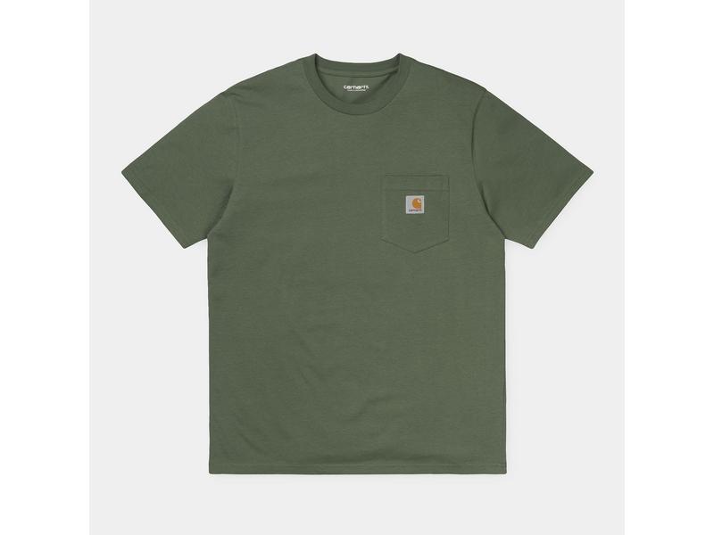 CARHARTT Camiseta S/S Pocket Dollar Green