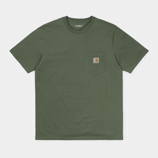 CARHARTT Camiseta S/S Pocket Dollar Green
