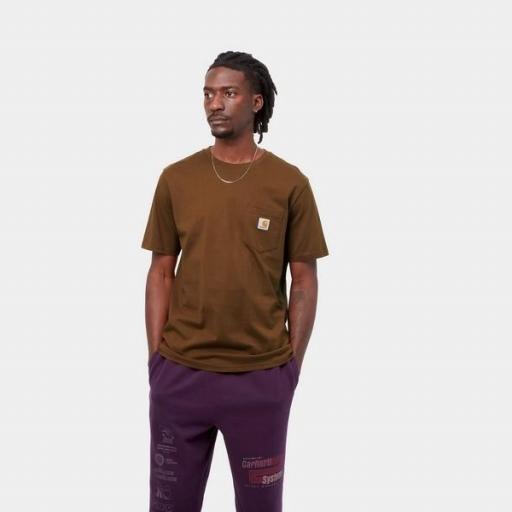 CARHARTT Camiseta S/S Pocket Tawny