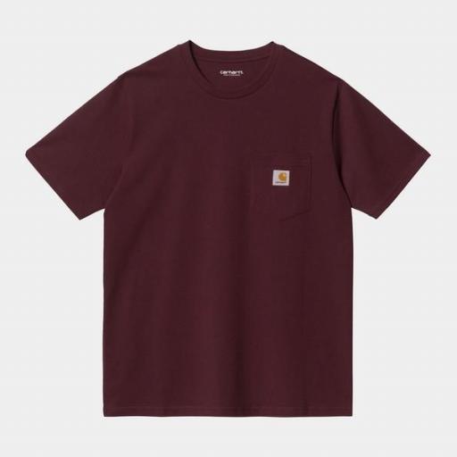 CARHARTT Camiseta S/S Pocket Wine