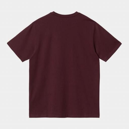 CARHARTT Camiseta S/S Pocket Wine [1]