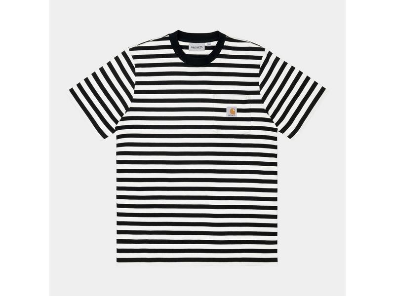 CARHARTT Camiseta S/S Scotty Pocket T-Shirt Black White