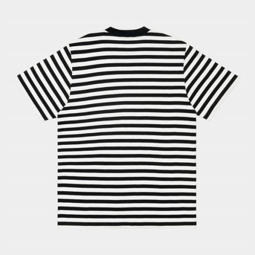 CARHARTT Camiseta S/S Scotty Pocket T-Shirt Black White [1]