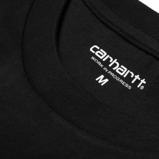 CARHARTT Camiseta S/S Script Black White [1]