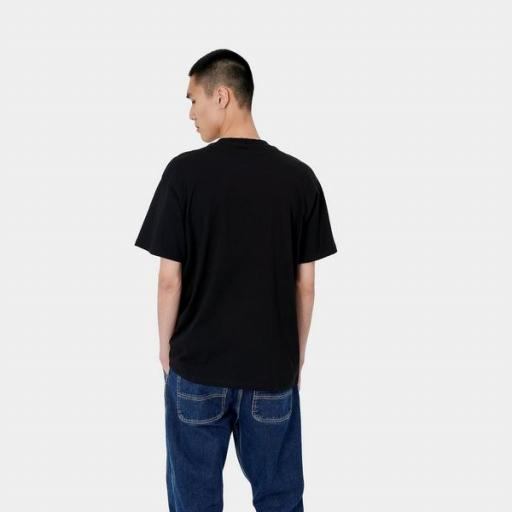 CARHARTT Camiseta S/S Script Embroidery T-S Frosted Black White [0]