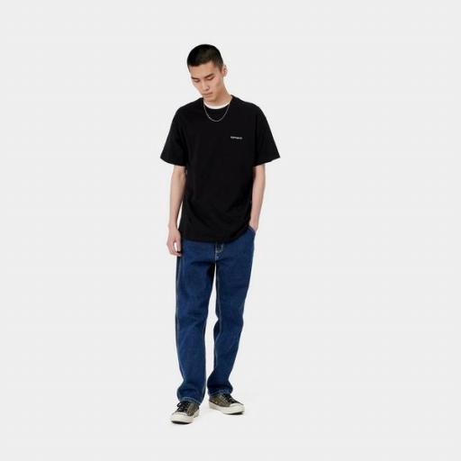 CARHARTT Camiseta S/S Script Embroidery T-S Frosted Black White [2]