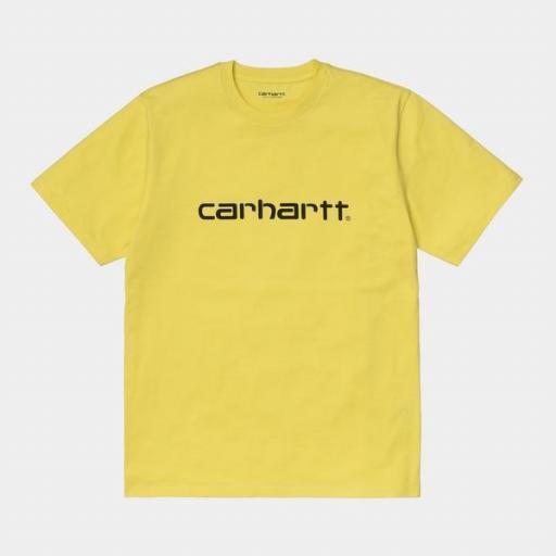 CARHARTT Camiseta S/S Script Limoncello Black