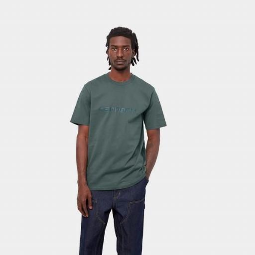 CARHARTT Camiseta S/S Script T-Shirt Eucalyptus Frasier