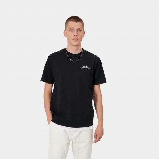CARHARTT Camiseta S/S University Black White