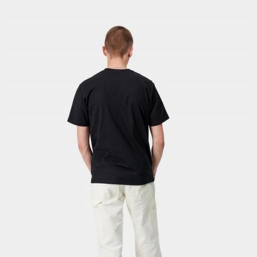CARHARTT Camiseta S/S University Black White [1]