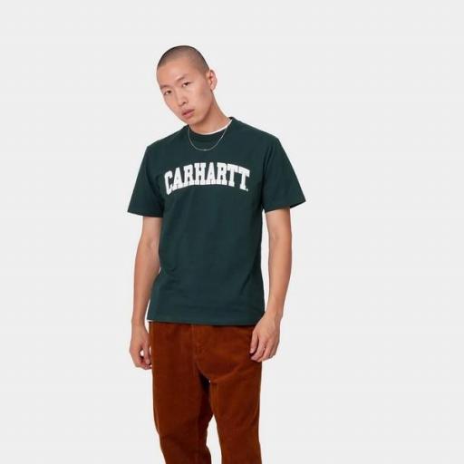 CARHARTT Camiseta S/S University Fraiser White