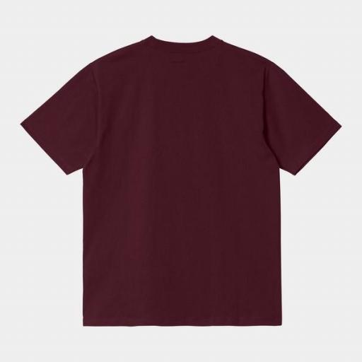CARHARTT Camiseta S/S University Wine White [1]