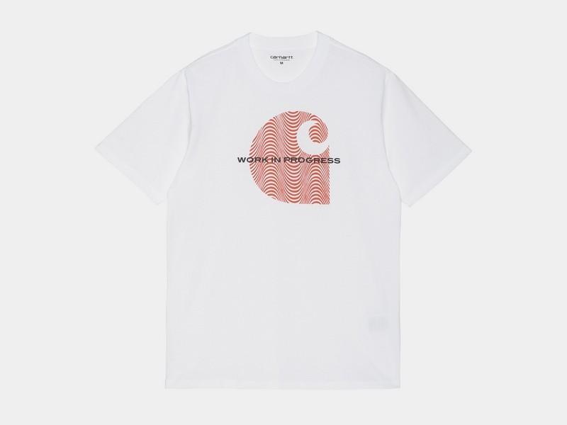 CARHARTT Camiseta S/S Wave C T-Shirt White