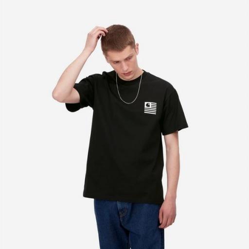 CARHARTT Camiseta S/S Wavy State T-Shirt Black White [1]