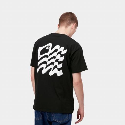 CARHARTT Camiseta S/S Wavy State T-Shirt Black White