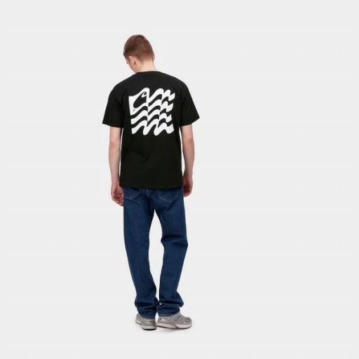 CARHARTT Camiseta S/S Wavy State T-Shirt Black White [2]