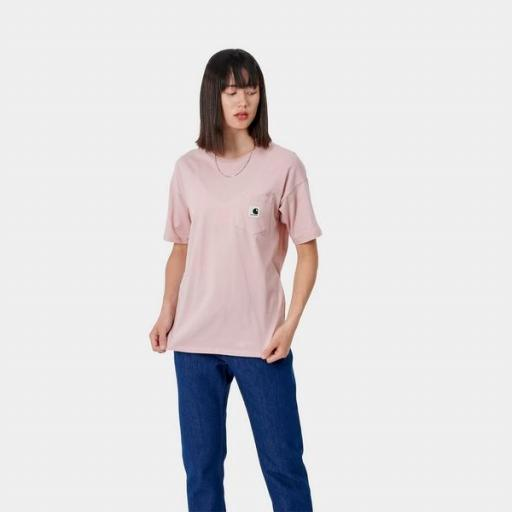 CARHARTT Camiseta W S/S Carrie Pocket T-Shirt Frosted Pink