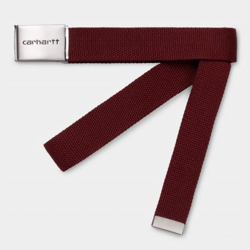 CARHARTT Cinturón Chrome Bordeaux