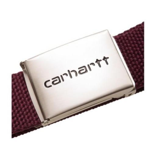 CARHARTT Cinturón Clip Belt Chrome Merlot [1]