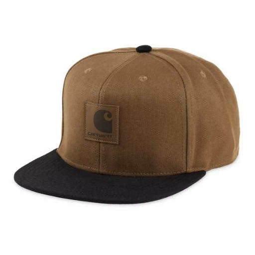 CARHARTT Gorra Logo Cap Bi-Colored Hamilton Brown Black