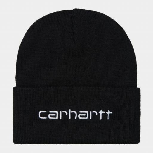 CARHARTT Gorro Script Beanie Black White