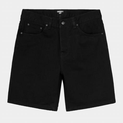 CARHARTT Pantalón Newel Short Black [1]