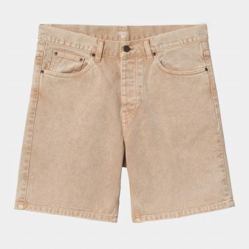 CARHARTT Pantalón Newel Short Dusty Brown Worn Washed [1]