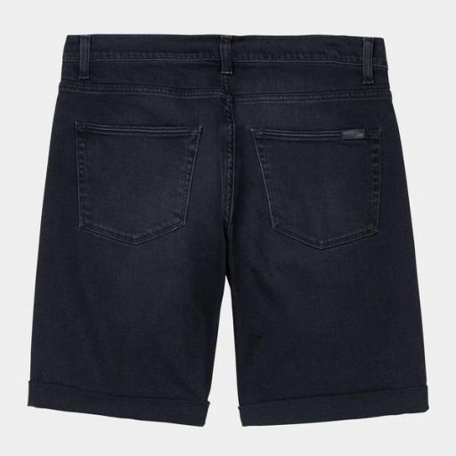 CARHARTT Pantalón Swell Short Black Mid Worn Wash