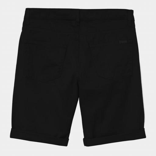 CARHARTT Pantalón corto Swell Black Rinsed [1]