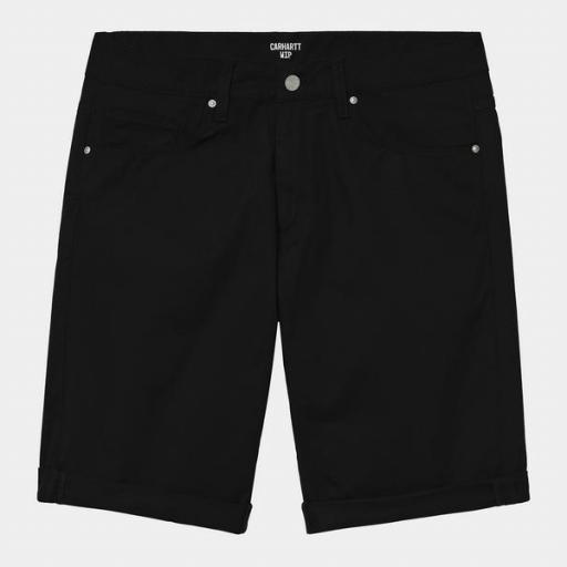 CARHARTT Pantalón corto Swell Black Rinsed