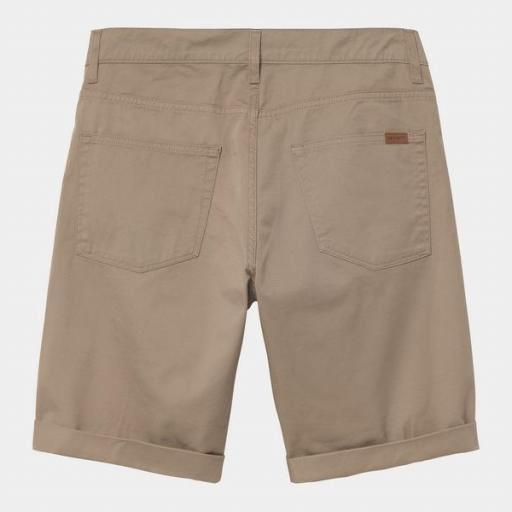 CARHARTT Pantalón corto Swell Leather Rinsed