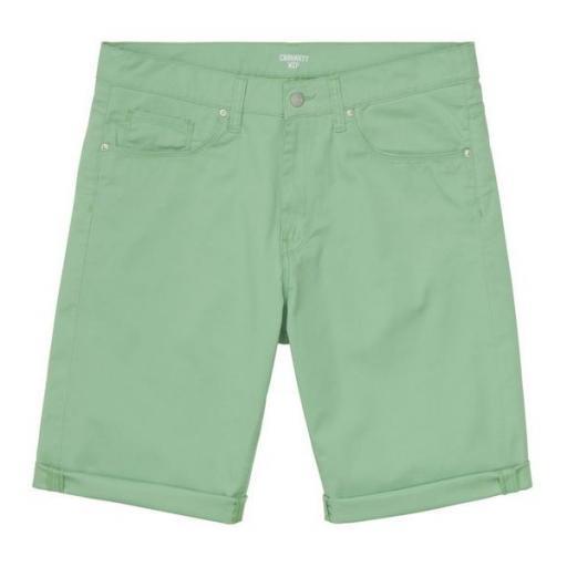 CARHARTT Pantalón corto Swell Mineral Green Rinsed [1]