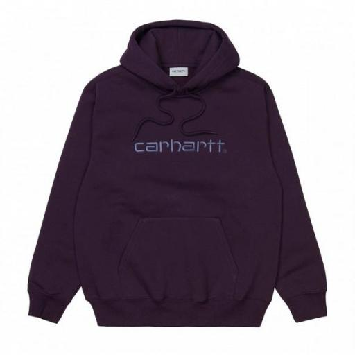 CARHARTT Sudadera Hooded Carhartt Sweat Dark Iris Cold Viola [1]