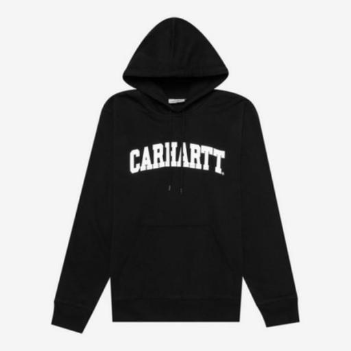 CARHARTT Sudadera Hooded University Sweat Black White